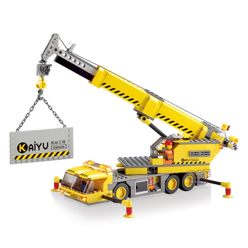 KAZI Engineering Crane Building Block Sets